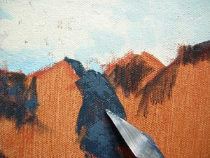Berge malen und Felsen malen mit Ölfarben von Mike Callahan