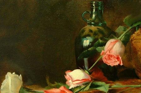 Glas malen auf klassischen Stilleben von Alexei Antonov
