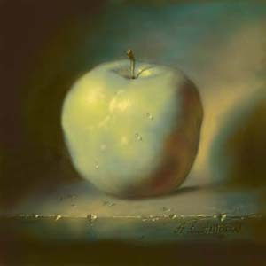 Einen Apfel malen oder Äpfel malen altmeisterlich von Alexei Antonov