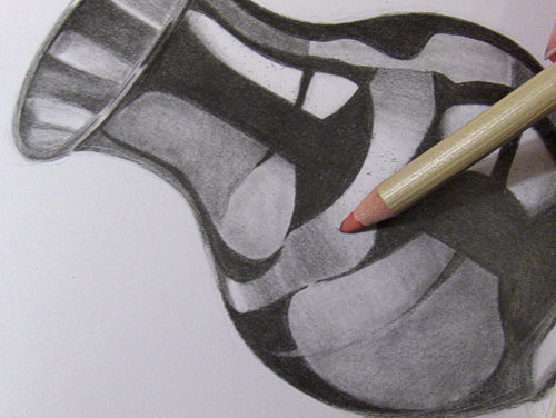 eine vase zeichnen aus metall wie zeichnet man gegenst nde aus metall wie malt. Black Bedroom Furniture Sets. Home Design Ideas