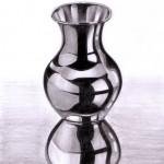 Eine Vase zeichnen aus Metall - Wie zeichnet man Gegenstände aus Metall ?