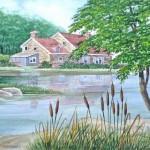 Haus am See , Landschaftsbild in Aquarell Anleitung Schritt für Schritt – John Fisher