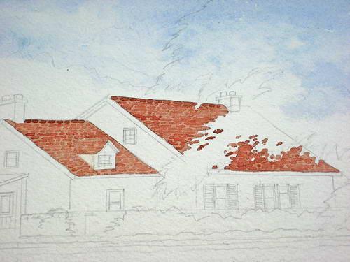 haus am see landschaftsbild in aquarell anleitung schritt f r schritt john fisher wie malt. Black Bedroom Furniture Sets. Home Design Ideas