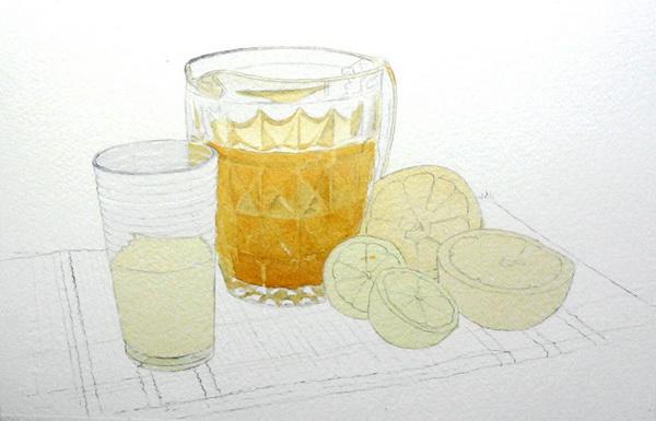 Glas malen mit Aquarellfarben, Gläser malen- John Fisher