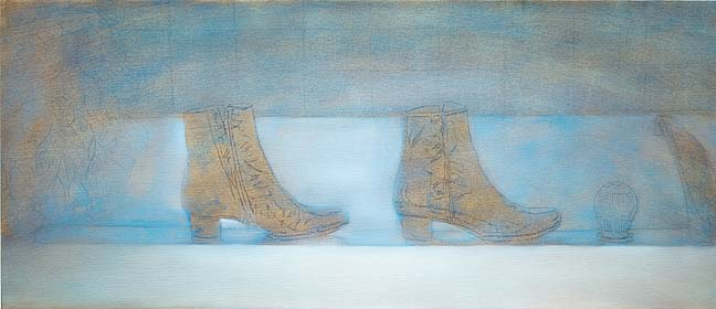 lmalerei lernen mit lfarben malen anleitung tipps die laufenden stiefel walking boots. Black Bedroom Furniture Sets. Home Design Ideas