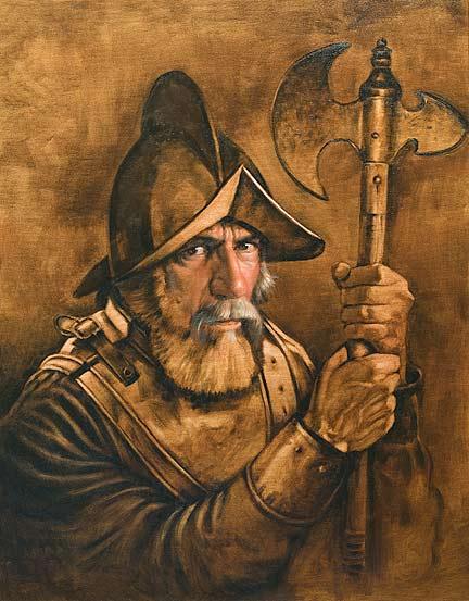 Ölmalerei altmeisterlich mit Untermalung-Portrait von Philip Howe
