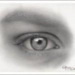Augen zeichnen – ein Auge einer Frau zeichnen – Faith Te