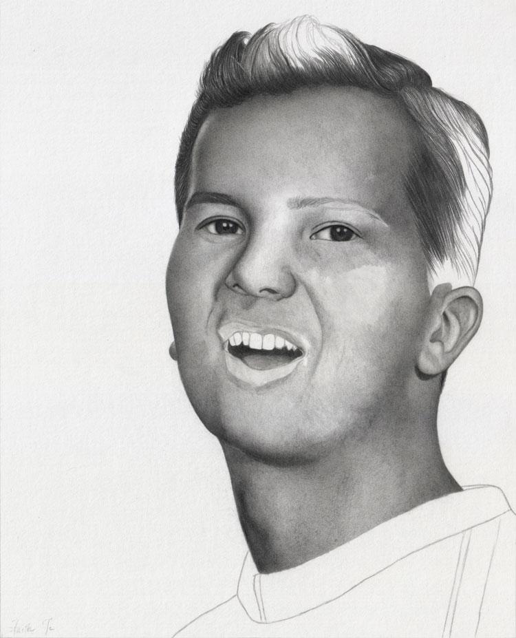 Ein Portrait mit Bleistift zeichnen Anleitung - Faith Te
