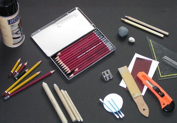 was braucht man zum zeichnen claudia sottner wie malt zeichnen lernen malen lernen. Black Bedroom Furniture Sets. Home Design Ideas