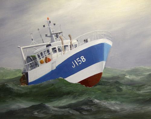 Ein Schiff malen ,Boot malen mit Ölfarben Anleitung Marinemalerei
