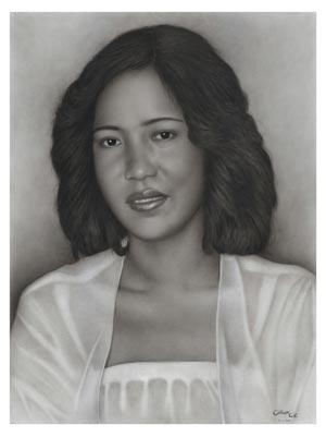 kohle portrait zeichnung