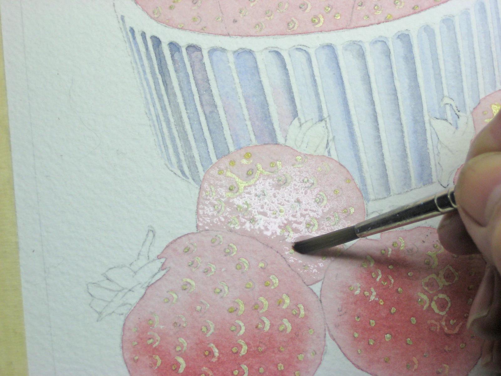 erdbeeren malen fr chte malen obst malen mit aquarellfarben malen teil 2 john fisher wie malt. Black Bedroom Furniture Sets. Home Design Ideas
