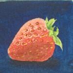 Erdbeeren malen, Früchte malen, Obst malen – Tutorial