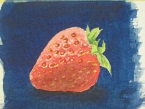 Erdbeeren malen, Früchte malen, Obst malen - Tutorial