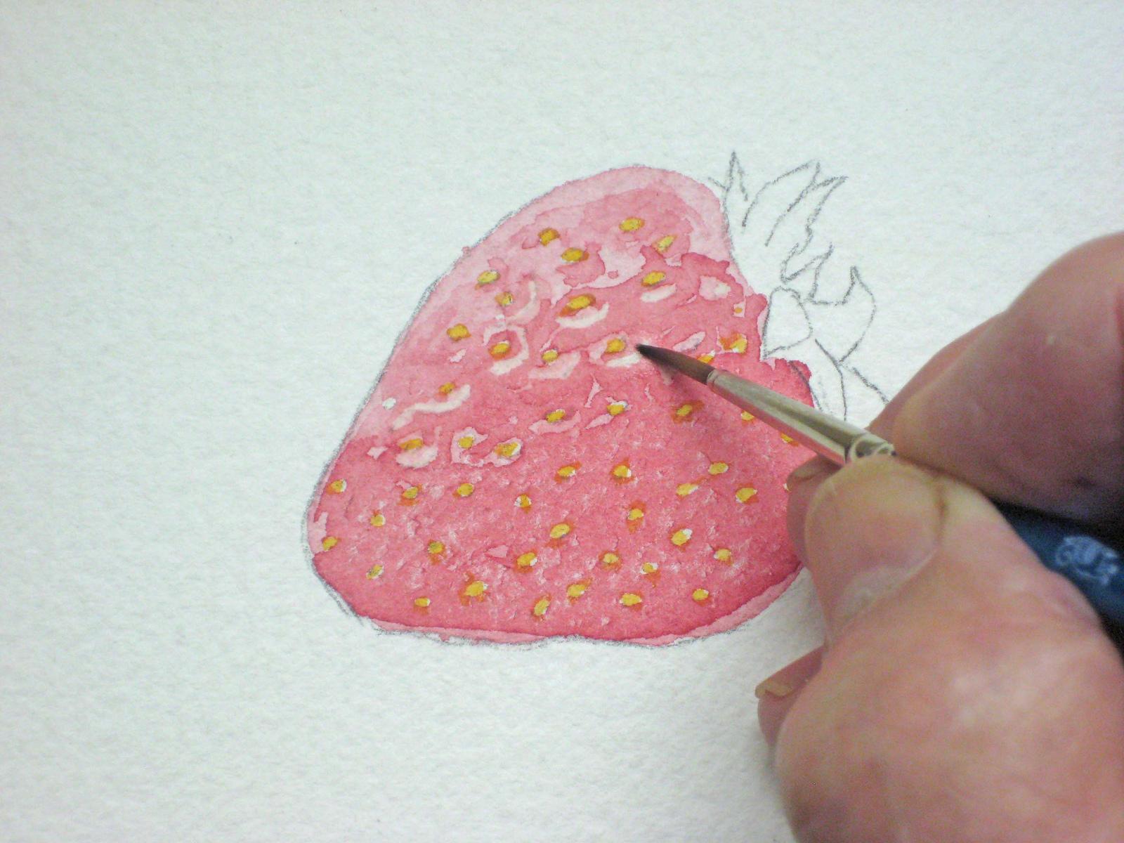 erdbeeren malen fr chte malen obst malen tutorial wie malt zeichnen lernen malen. Black Bedroom Furniture Sets. Home Design Ideas