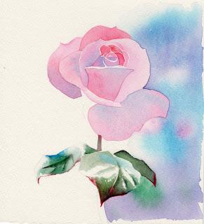 Rosen Blumen Blüten mit Wasserfarben malen – Anleitung 1 von Barbara Fox