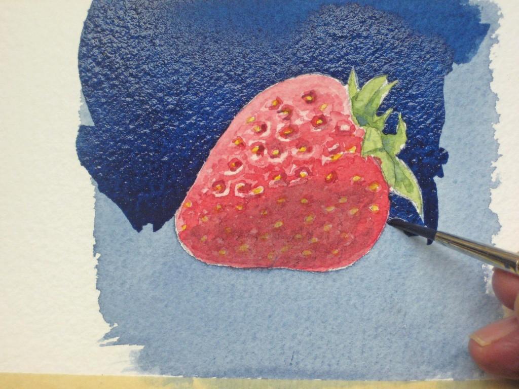 Erdbeeren malen