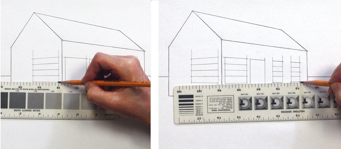 ein haus perspektivisch zeichnen mit fluchtpunkten und horizontlinie teil 2 beschreibung von. Black Bedroom Furniture Sets. Home Design Ideas
