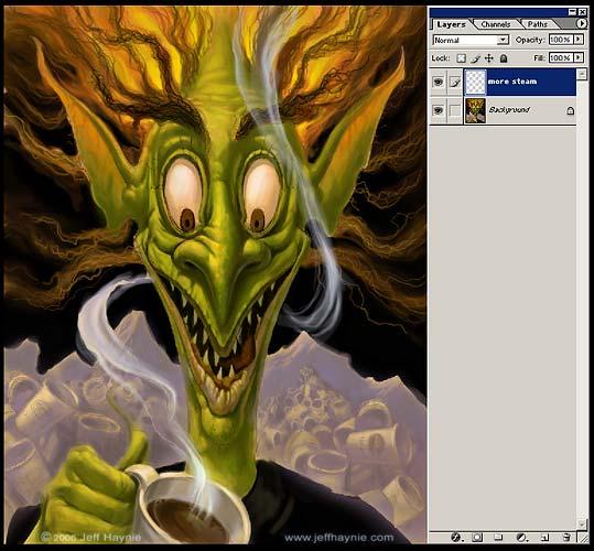 Digitale Malerei Anleitung - Fantasy Art  Photoshop Tutorial – Digitale Malerei – Jeff Haynie