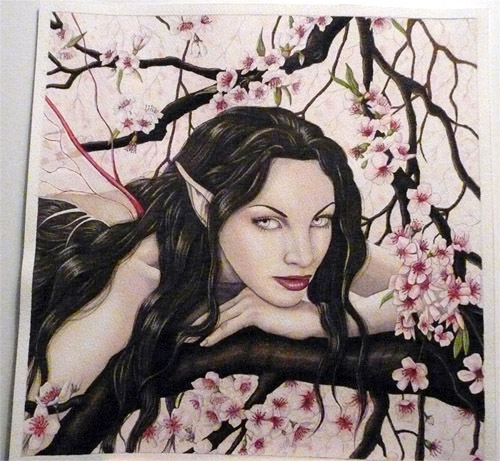 Feen malen - Elfen malen -Wie malt man eine Fee ? – Fantasy Art mit Aquarellfarben – Anleitung von Rebecca Sinz