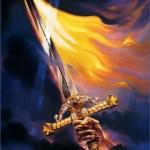 Ein Schwert malen – Flammen malen – Fantasy Art mit Ölfarben