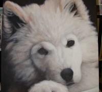 Einen Hund malen mit Acrylfarben Demonstration – Fell malen Anleitung 2