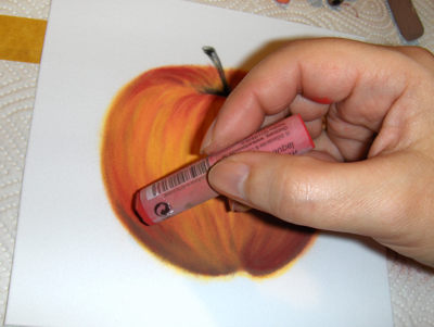 Apfel in Pastell Schritt für Schritt Anleitung -Monika Kunze