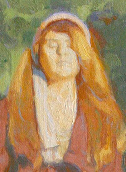 Menschen malen mit Ölfarben - Portrait einer Frau - Dan Schultz
