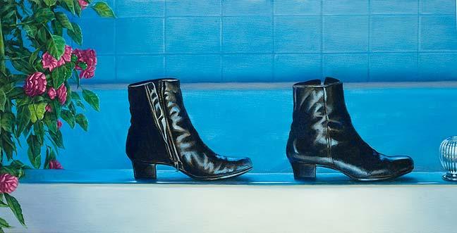 Ölmalerei lernen -Mit Ölfarben Malen- Anleitung -Tipps-Die Laufenden Stiefel - Walking Boots - Philip Howe