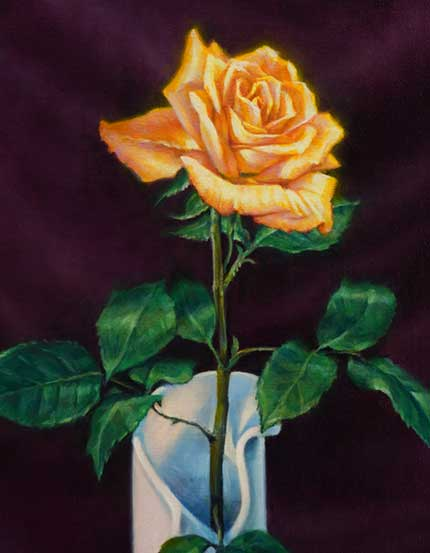 Rosen Malen Bluten Realistisch Malen Mit Olfarben Demonstration