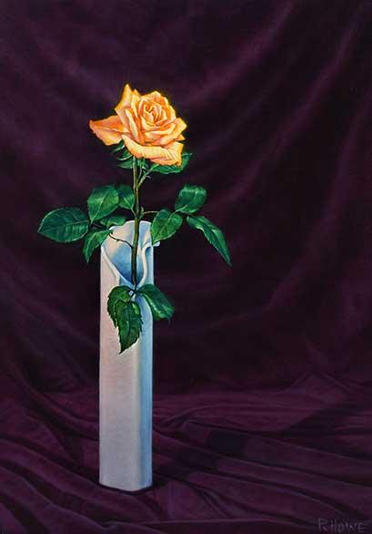 Rosen malen-Blüten realistisch malen mit Ölfarben-Demonstration-Philip Howe