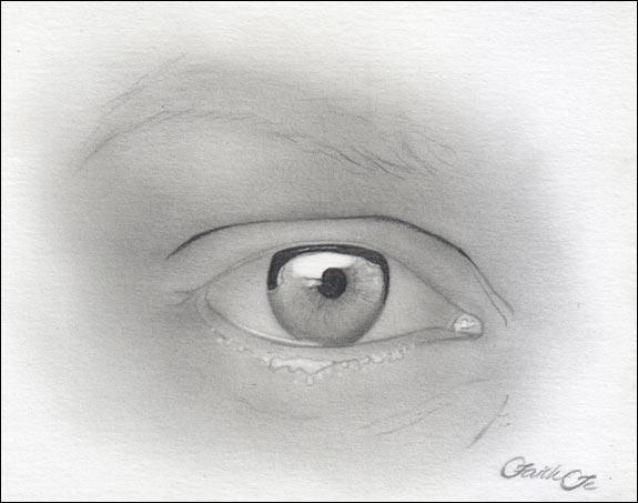 Augen zeichnen - ein Auge einer Frau zeichnen - Faith Te