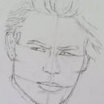 Proportionen im Gesicht - Portrait zeichnen - Claudia Sottner
