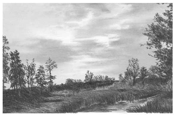 Himmel Und Wolken Mit Bleistift Zeichnen Anleitung Diane Wright