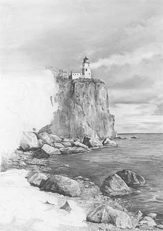 Landschaften zeichnen lernen – Anleitung – Diane Wright