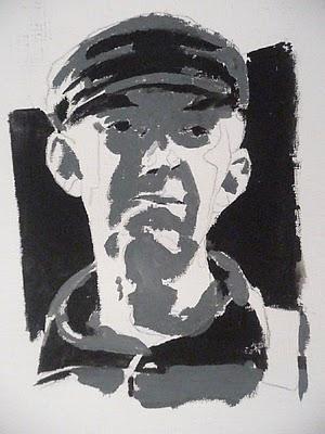 Portrait in Acryl Malanleitung Schritt-für-Schritt Demonstration- Christopher Vasil