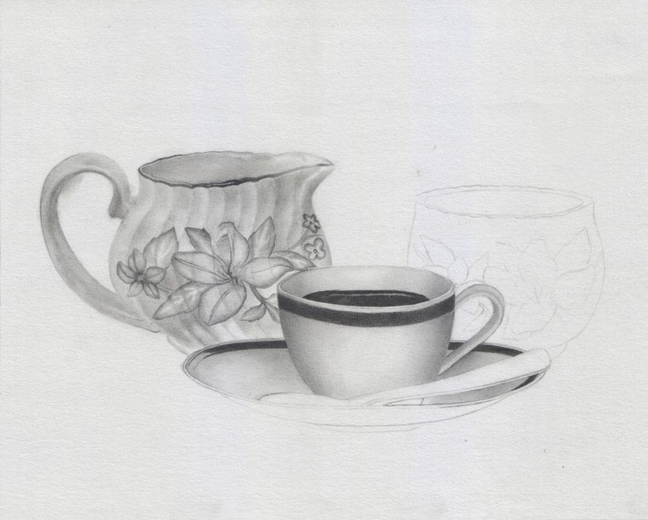Stillleben zeichnen lernen - Wie zeichnet man ein Stillleben mit Bleistift?