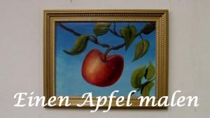 Einen Apfel ,Früchte mit Ölfarben malen, Anleitung - Schneemann