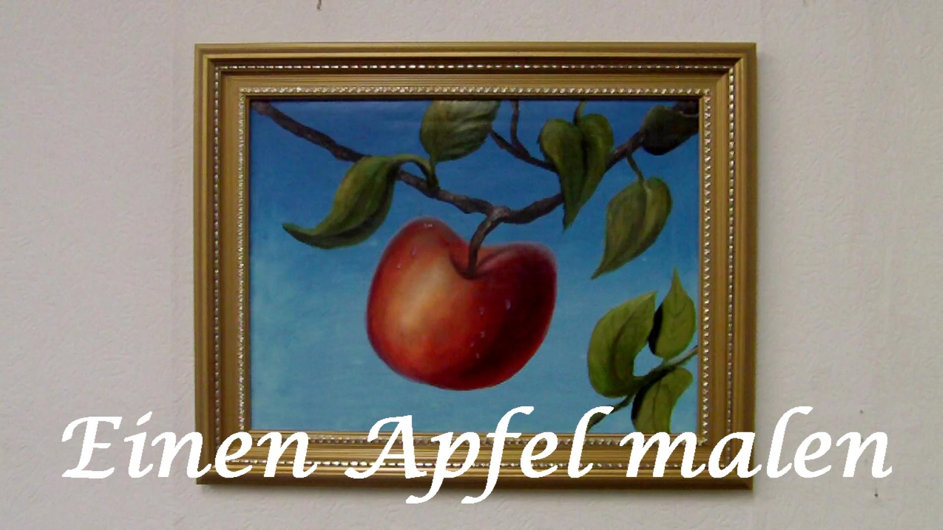 Einen Apfel Früchte Mit ölfarben Malen Anleitung Schneemann Wie