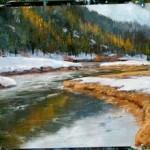 Einen Fluss malen-Wasser mit Ölfarben malen- Donald Neff