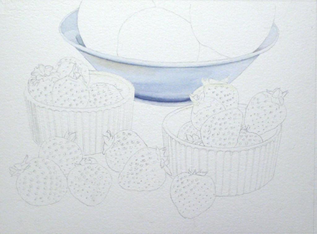 Erdbeeren malen, Früchte malen, Obst malen mit Aquarellfarben malen Teil 2– John Fisher