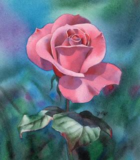 Rosen Blumen Bluten Mit Wasserfarben Malen Anleitung 1 Von Barbara