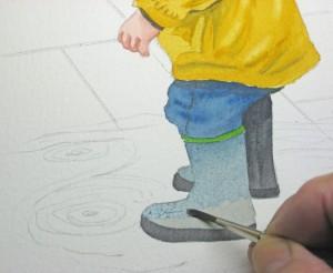Aquarellmalen lernen - Aquarell online Kurs -Der Junge - von John Fisher