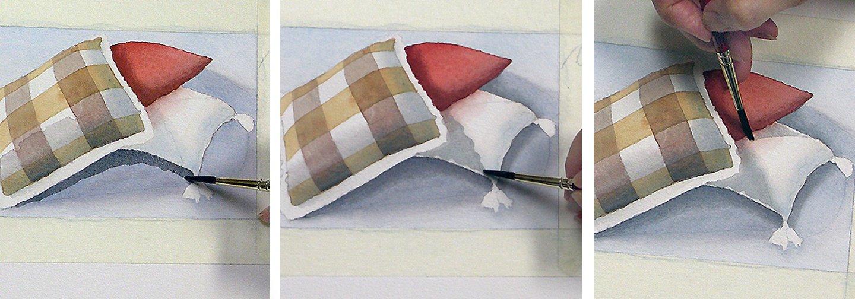 Schatten malen - mit Aquarellfarben Schatten malen Anleitung 2