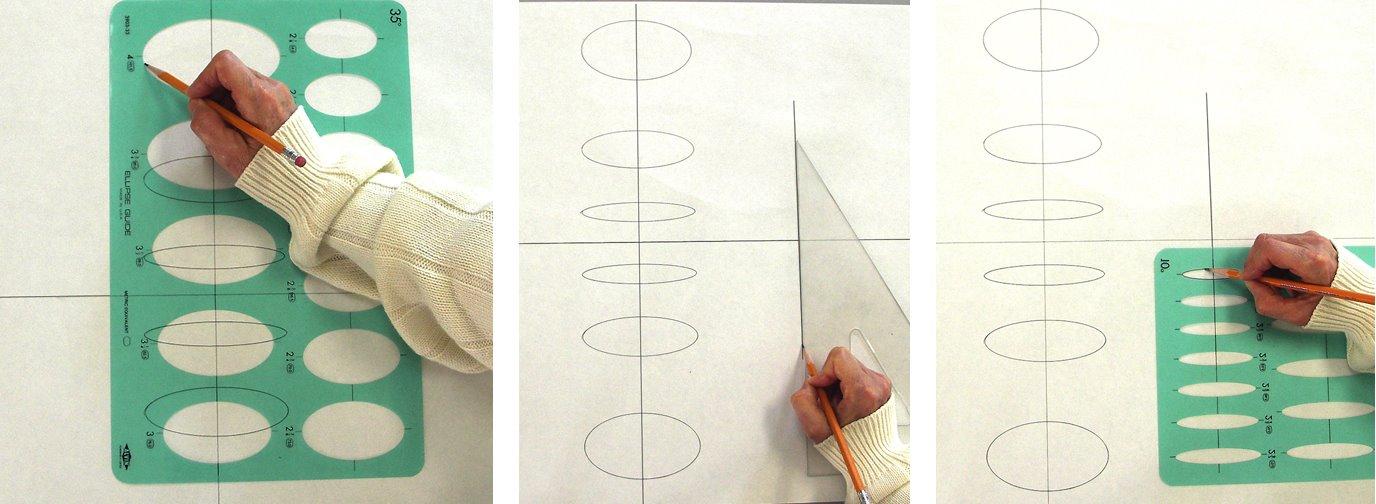 Perspektivisch zeichnen mit Fluchtpunkten und Horizontlinie Teil 3 Ellipsen und Vogelperspektive –Beschreibung von Mara Mattia