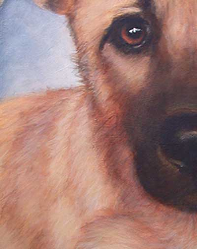 Tiere malen, Hunde malen, Fell mit Acrylfarben malen –Leslie Anne Pease
