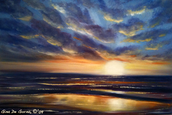 Youtube Tutorials In Acrylic Painting Of Sunsets