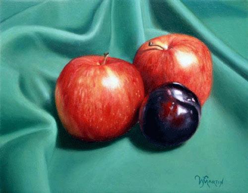 Malen mit Ölfarben, Realistisch Früchte malen, Stillleben in  Altmeisterlicher Maltechnik mit Untermalung und Lasuren