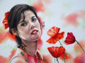 Portrait mit Buntstiften zeichnen- Anleitung von Veronica Winters