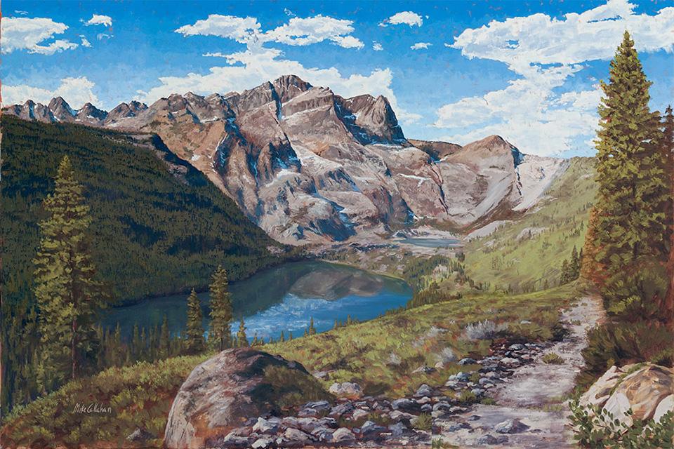 Berge malen und Felsen malen mit Ölfarben Mike Callahan